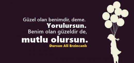 Dursun Ali Erzincanlı Sözleri